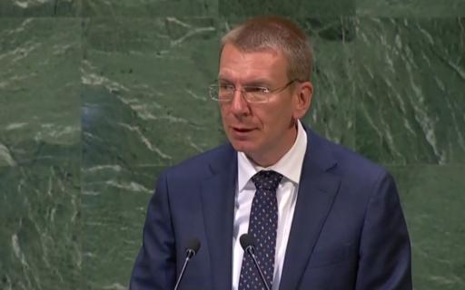 Ārlietu ministra Edgara Rinkēviča runa ANO Ģenerālās asamblejas 73. sesijā Ņujorkā