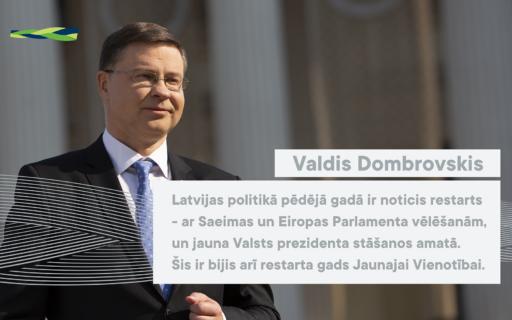 Dombrovskis: reformas var būtiski uzlabot dzīves kvalitāti un dzīves līmeni Latvijā