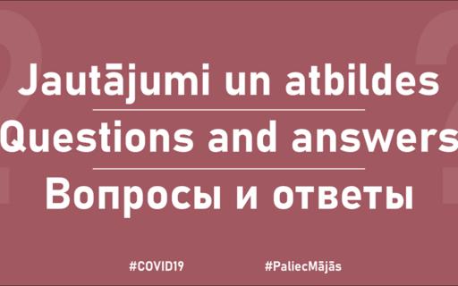 Covid-19: jautājumi un atbildes
