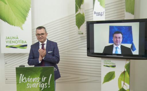 Valdis Dombrovskis: JAUNĀS VIENOTĪBAS pieredze darbā un krīžu pārvarēšanā sekmēs augšupeju jaunajos novados