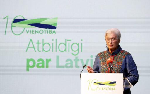 Kalniete: VIENOTĪBA ir vienīgā partija, kas apvieno modernu nacionālismu un atvērtību pasaulei